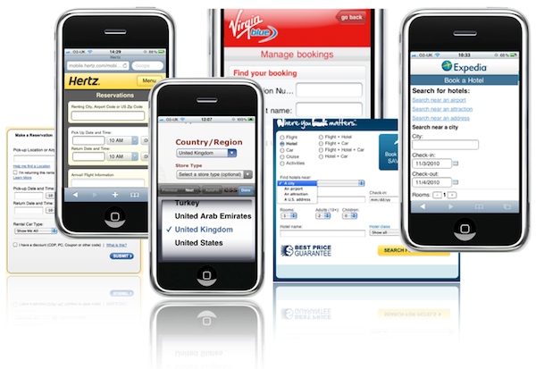 design mobile form and input