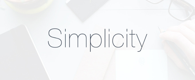 The application of Simplicity in Web design