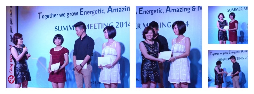 """Our beautiful CEO - Ms Van Dang rewards """"Best employee of the quarter"""""""