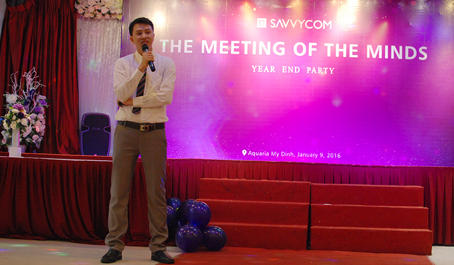 Savvycom COO - Mr. Minh reported on achievements of Savvycom throughout the year