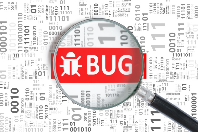 Mobile apps may carry bugs