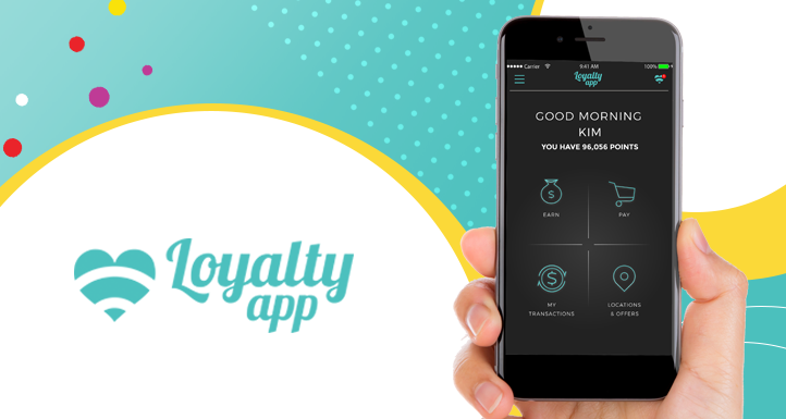 loyalty app text and the iphone app